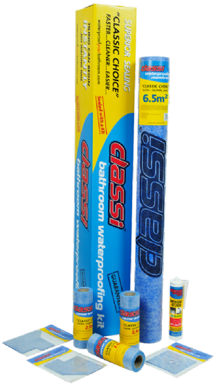 Classi Waterproofing for Wetrooms Small Kit, for wall and floor area | 6.5m²